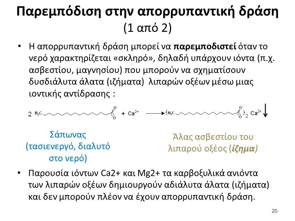 Παρεμπόδιση στην απορρυπαντική δράση (2 από 2)