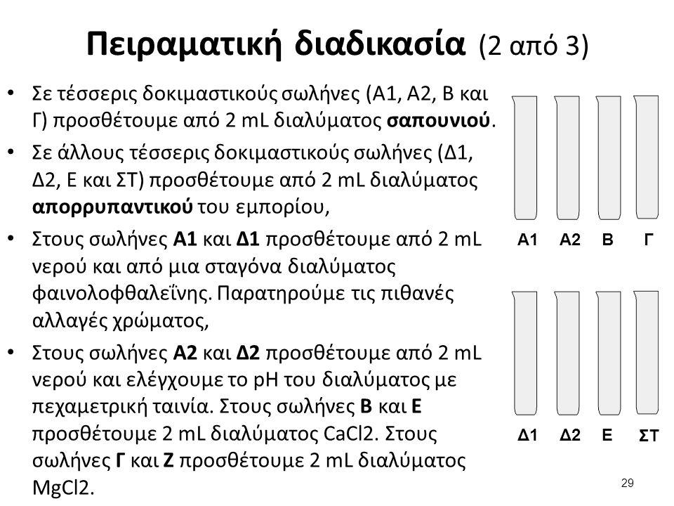 Πειραματική διαδικασία (3 από 3)