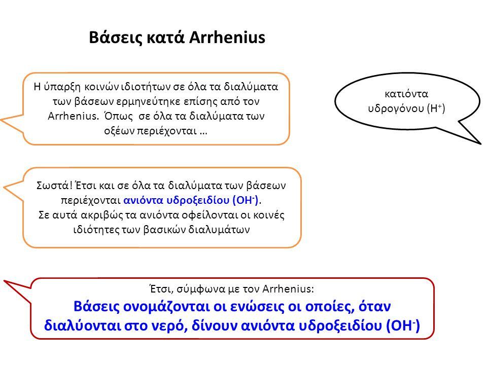 Βάσεις κατά Arrhenius