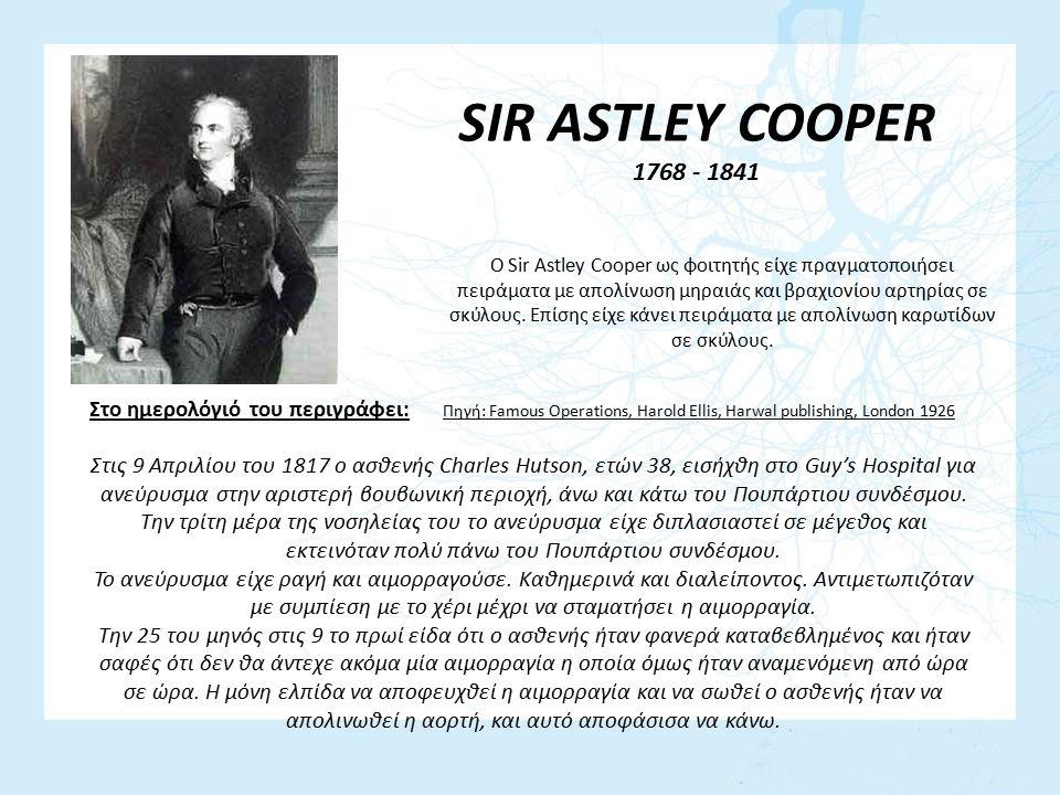 SIR ASTLEY COOPER 1768 - 1841.