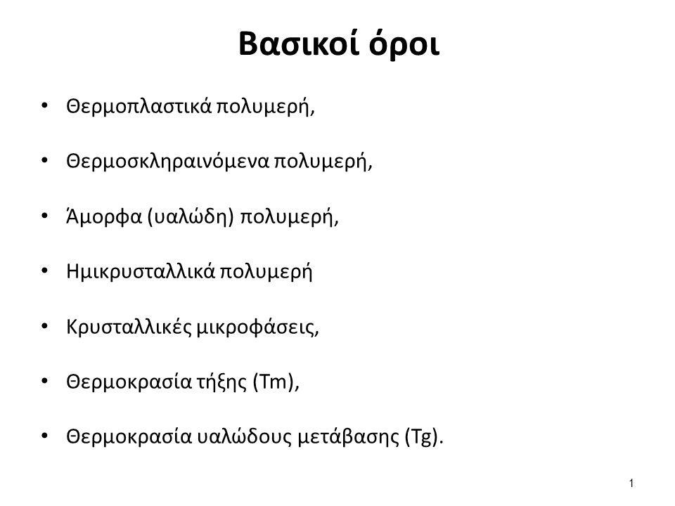 Θερμική συμπεριφορά των πολυμερών (1 από 2)