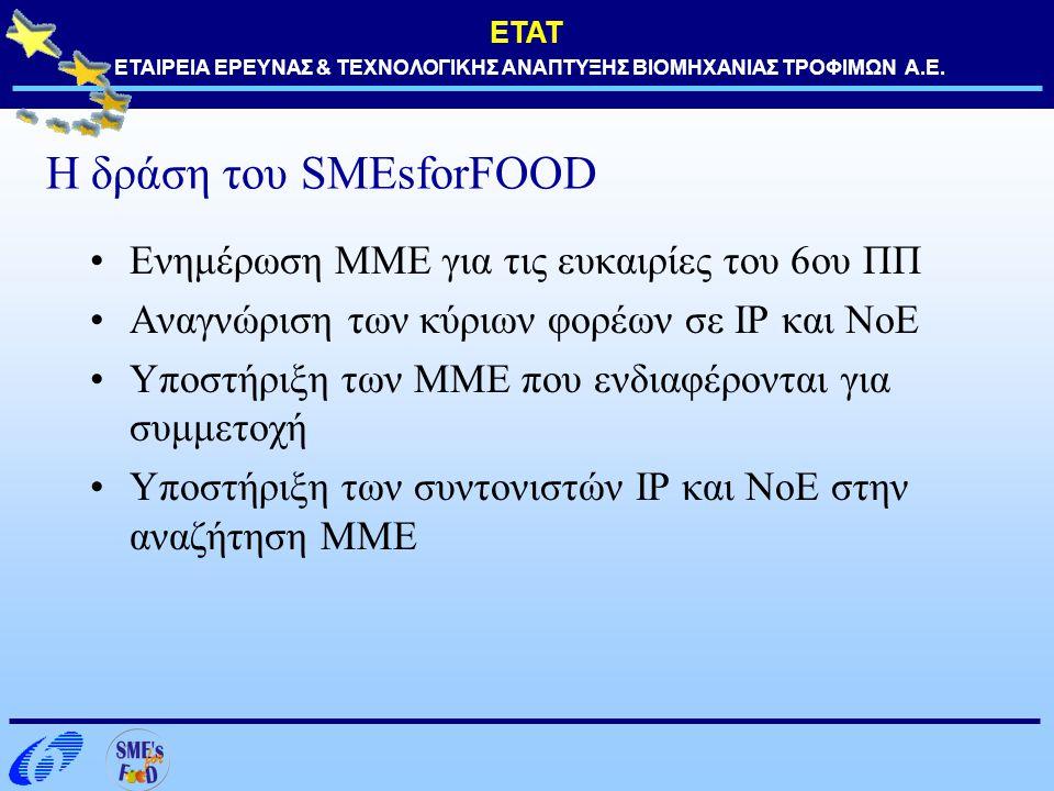 Η δράση του SMEsforFOOD