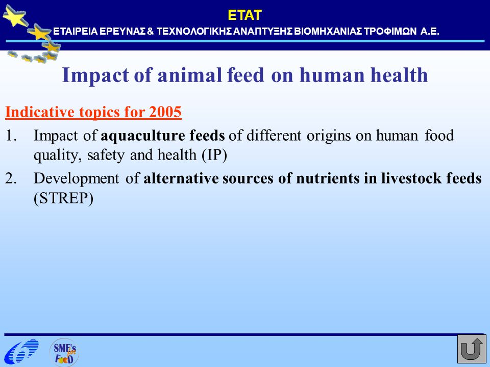 Impact of animal feed on human health