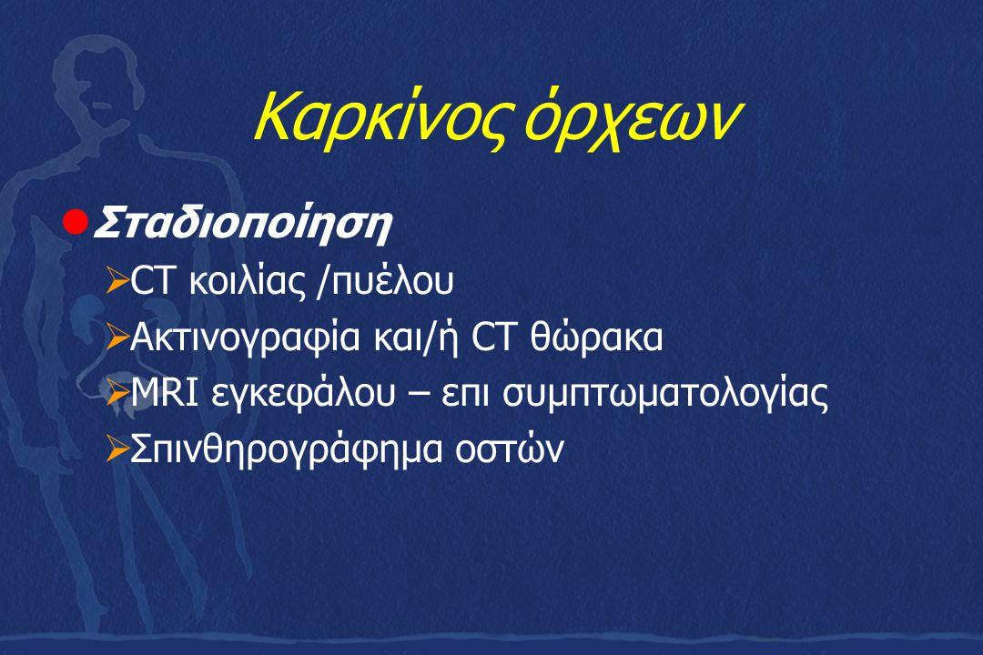 Καρκίνος όρχεων Σταδιοποίηση CT κοιλίας /πυέλου
