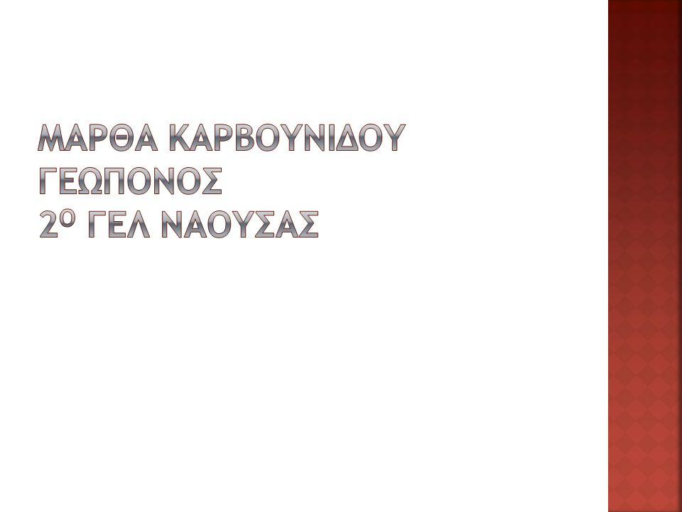 Μαρθα καρβουνιδου γεωπονοσ 2ο ΓΕΛ Ναουσασ