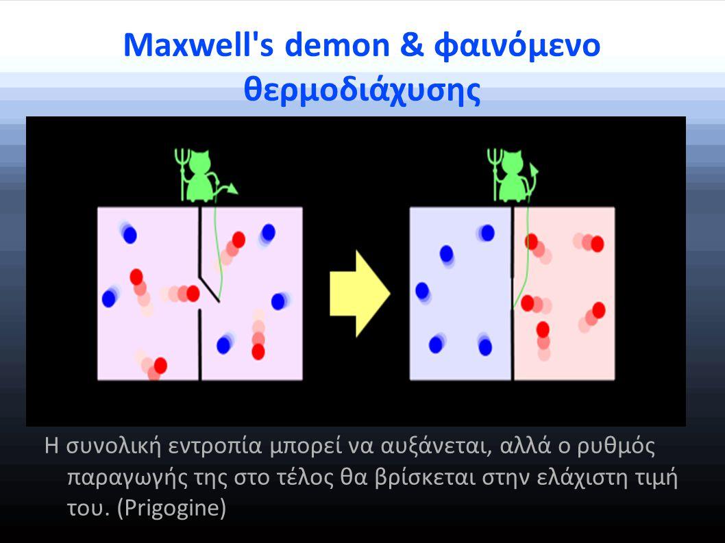 Maxwell s demon & φαινόμενο θερμοδιάχυσης