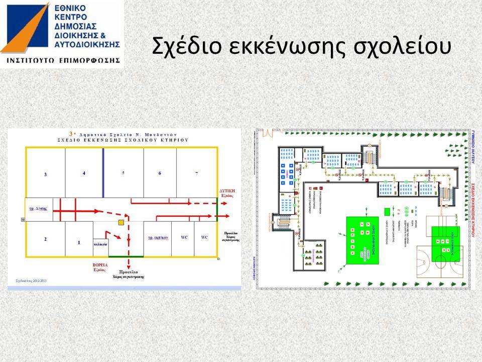 Σχέδιο εκκένωσης σχολείου