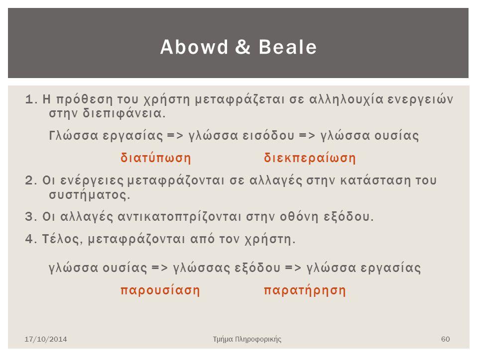 Abowd & Beale
