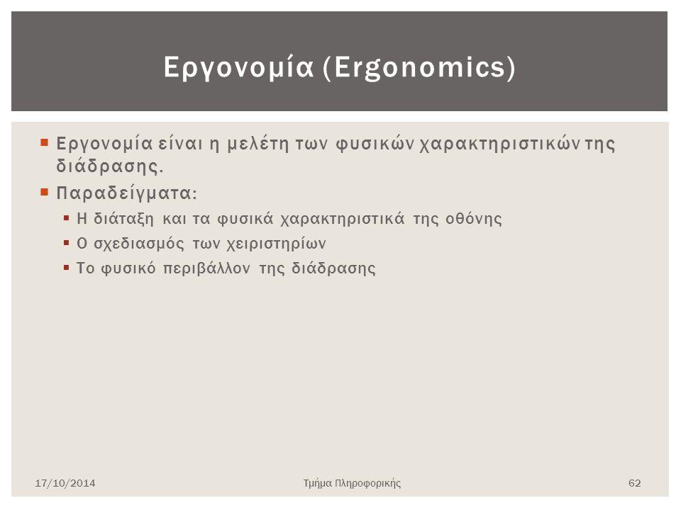 Εργονομία (Ergonomics)