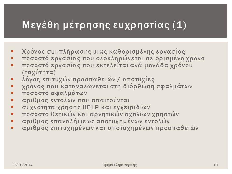 Μεγέθη μέτρησης ευχρηστίας (1)