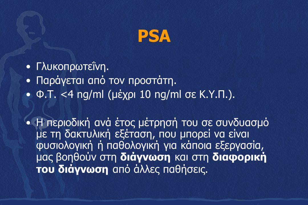 PSA Γλυκοπρωτεΐνη. Παράγεται από τον προστάτη.