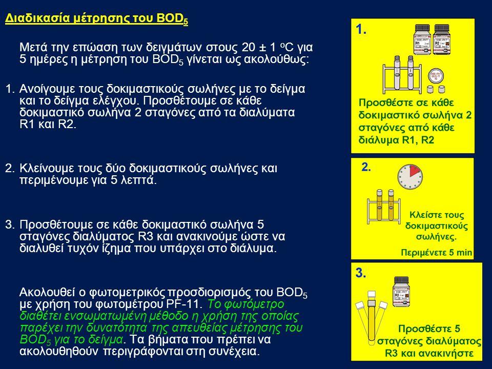Διαδικασία μέτρησης του BOD5