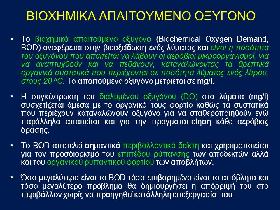 ΒΙΟΧΗΜΙΚΑ ΑΠΑΙΤΟΥΜΕΝΟ ΟΞΥΓΟΝΟ