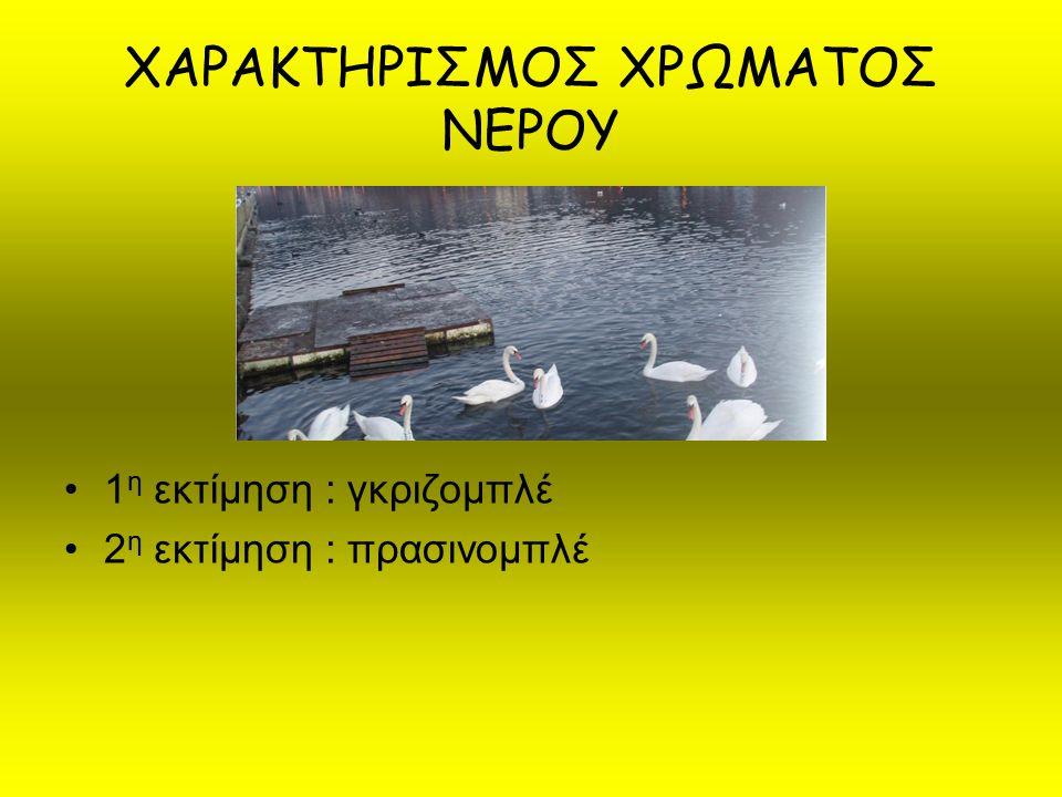 ΧΑΡΑΚΤΗΡΙΣΜΟΣ ΧΡΩΜΑΤΟΣ ΝΕΡΟΥ