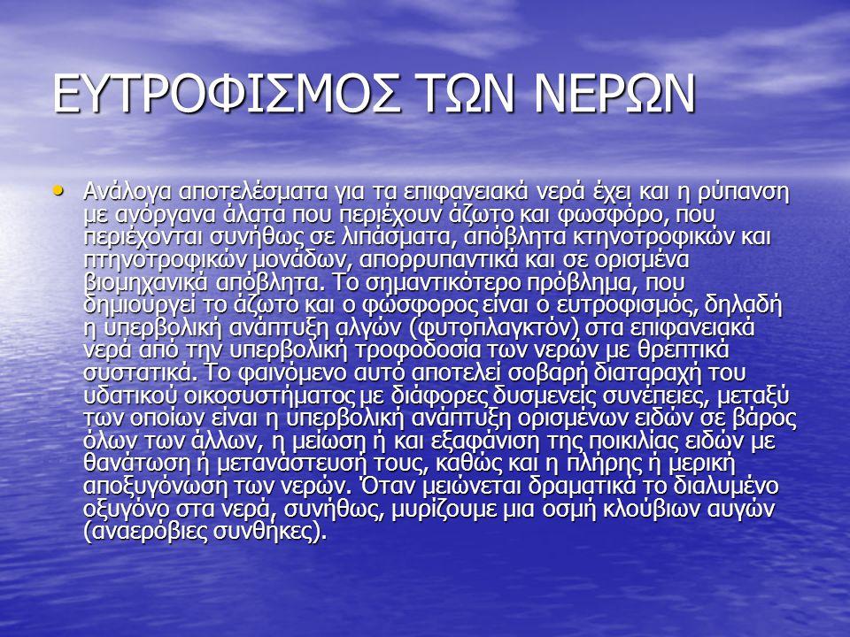 ΕΥΤΡΟΦΙΣΜΟΣ ΤΩΝ ΝΕΡΩΝ