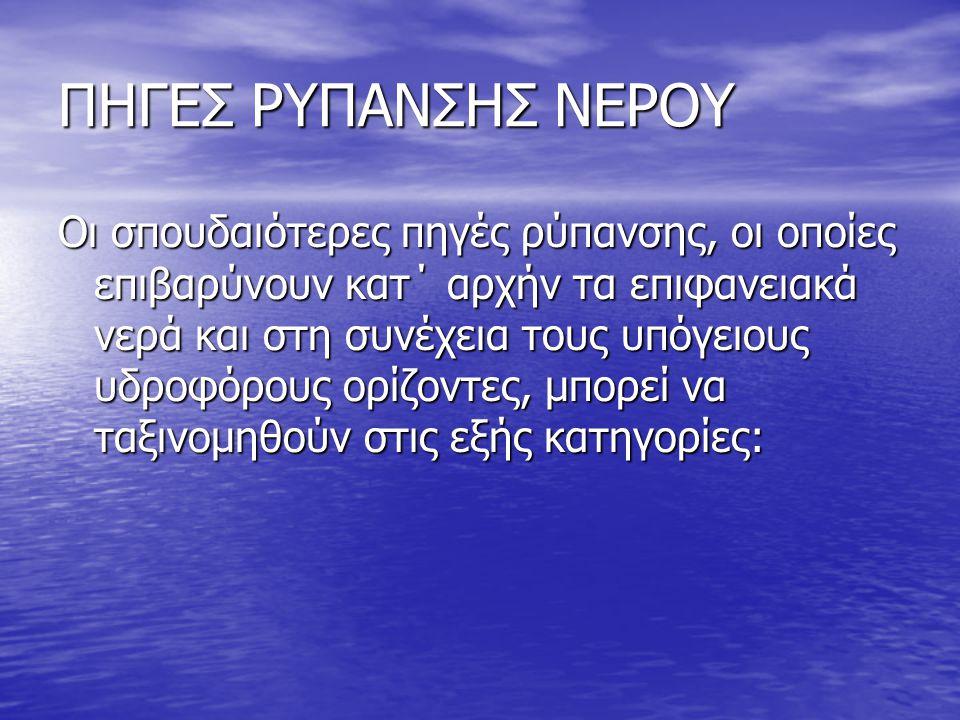 ΠΗΓΕΣ ΡΥΠΑΝΣΗΣ ΝΕΡΟΥ