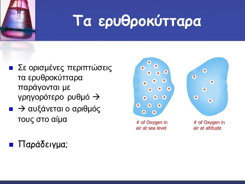Τα ερυθροκύτταρα Παράδειγμα;