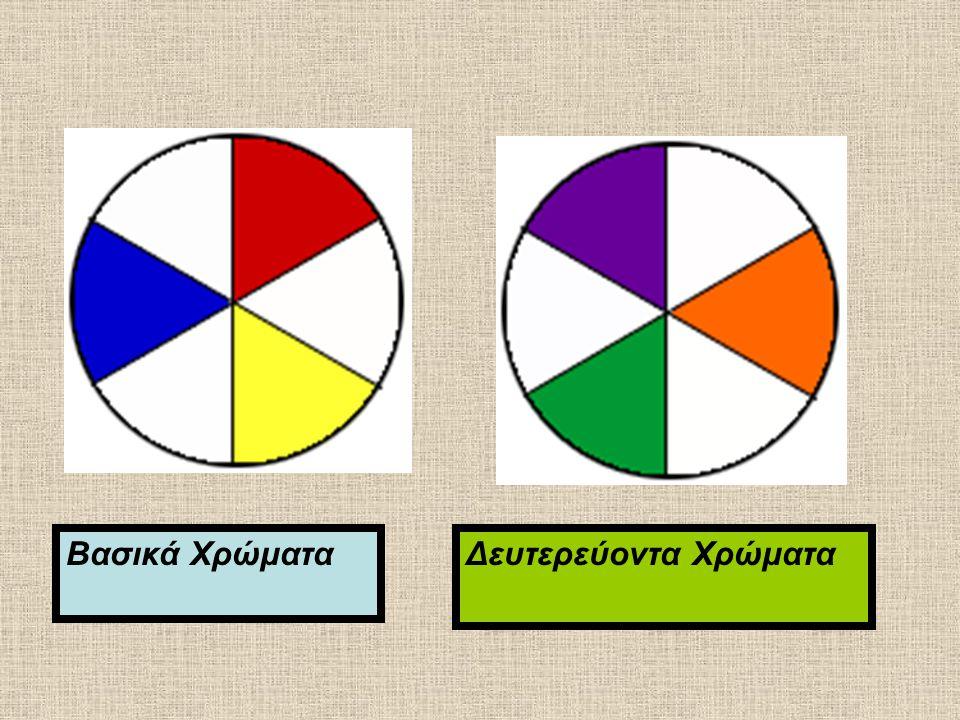 Βασικά Χρώματα Δευτερεύοντα Χρώματα