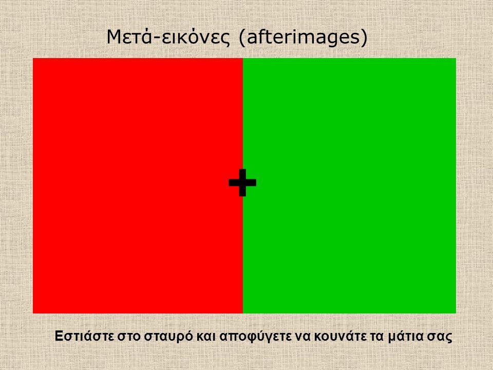 + Μετά-εικόνες (afterimages)