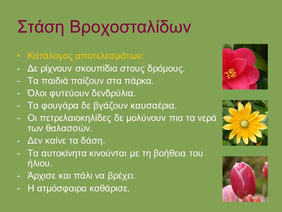 Στάση Βροχοσταλίδων Κατάλογος αποτελεσμάτων: