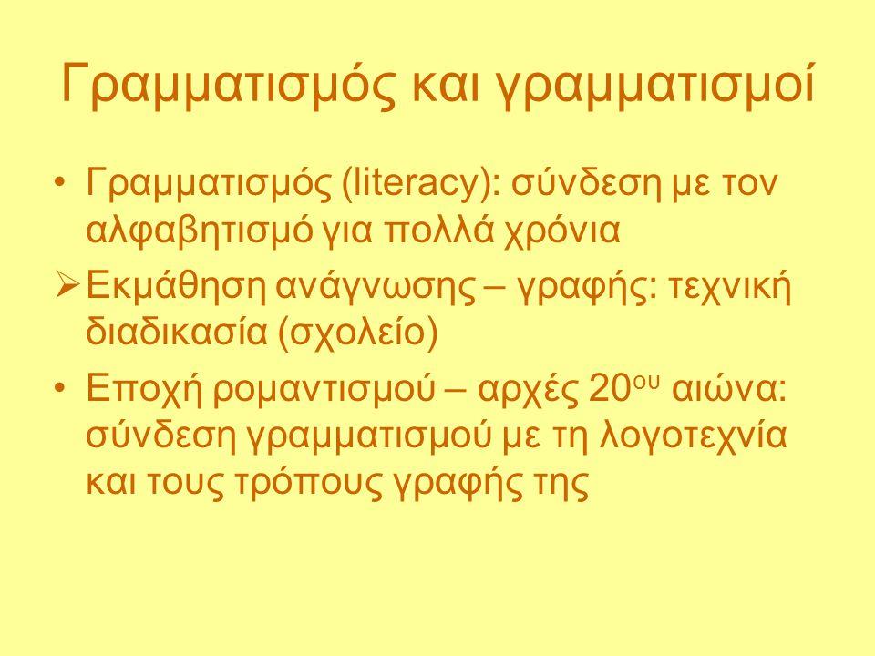 Γραμματισμός και γραμματισμοί