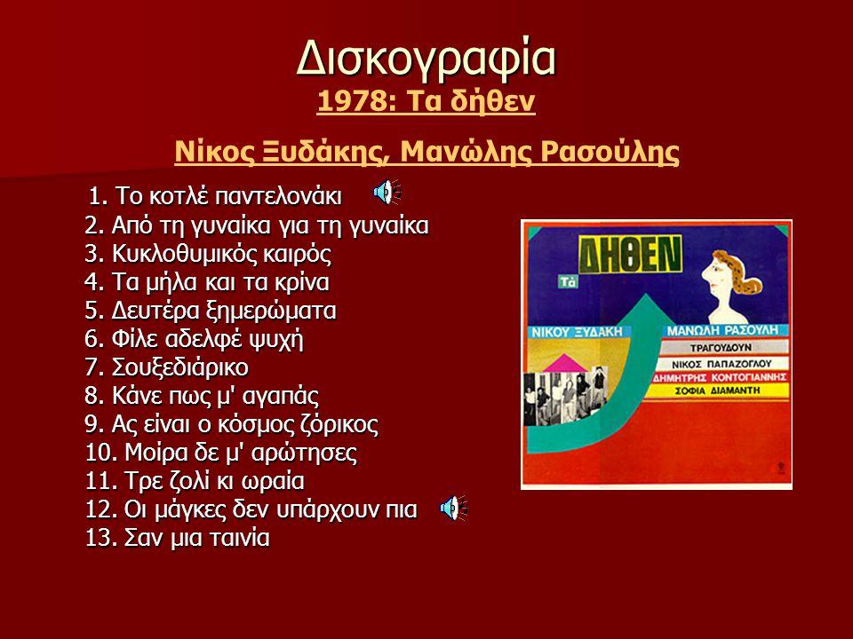 Νίκος Ξυδάκης, Μανώλης Ρασούλης