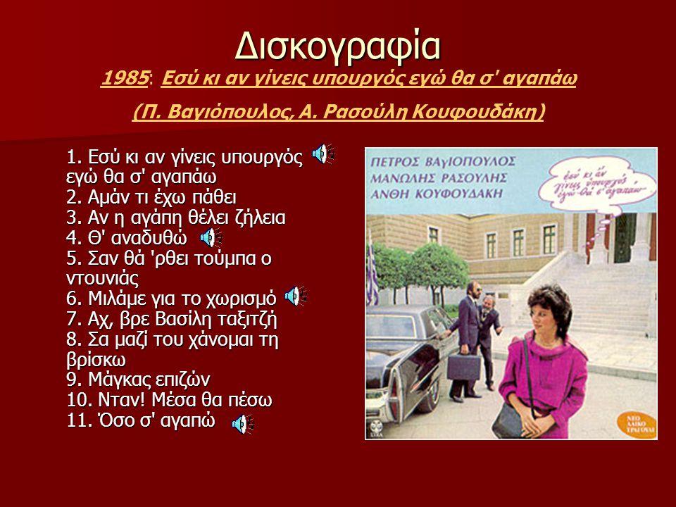 (Π. Βαγιόπουλος, Α. Ρασούλη Κουφουδάκη)
