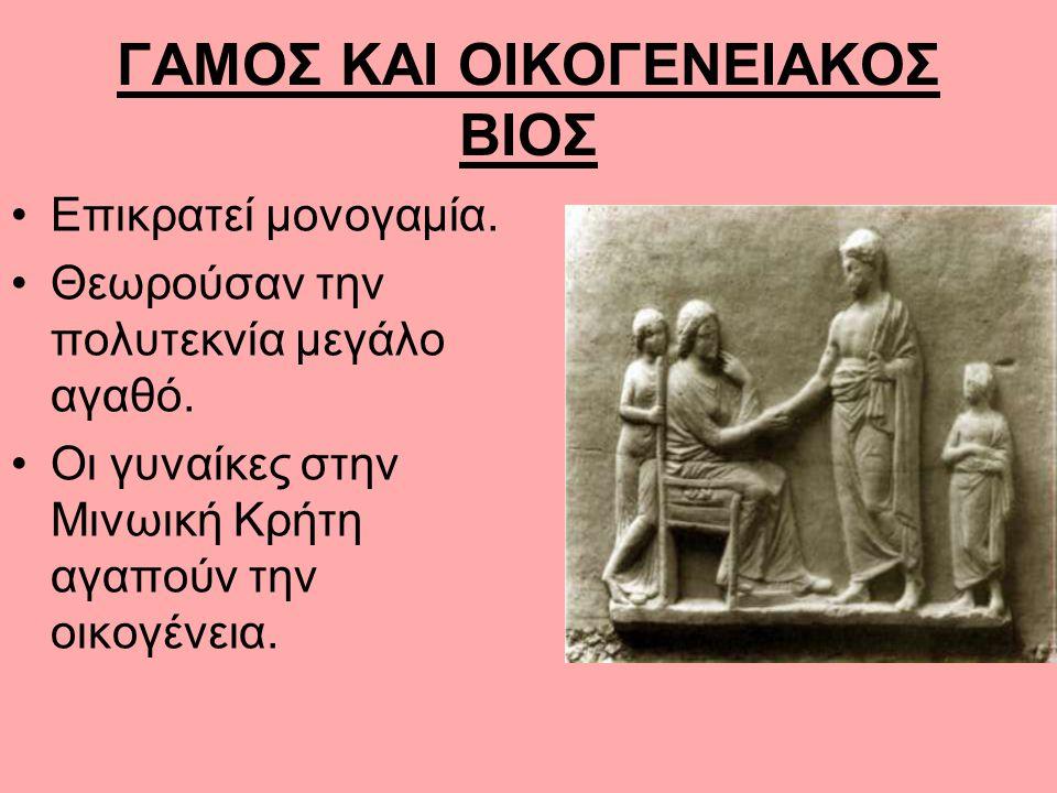 ΓΑΜΟΣ ΚΑΙ ΟΙΚΟΓΕΝΕΙΑΚΟΣ ΒΙΟΣ
