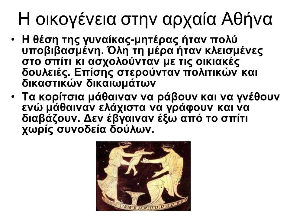 Η οικογένεια στην αρχαία Αθήνα