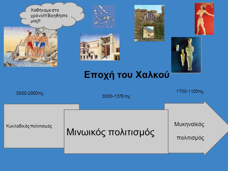 Εποχή του Χαλκού Μινωικός πολιτισμός πολιτισμός