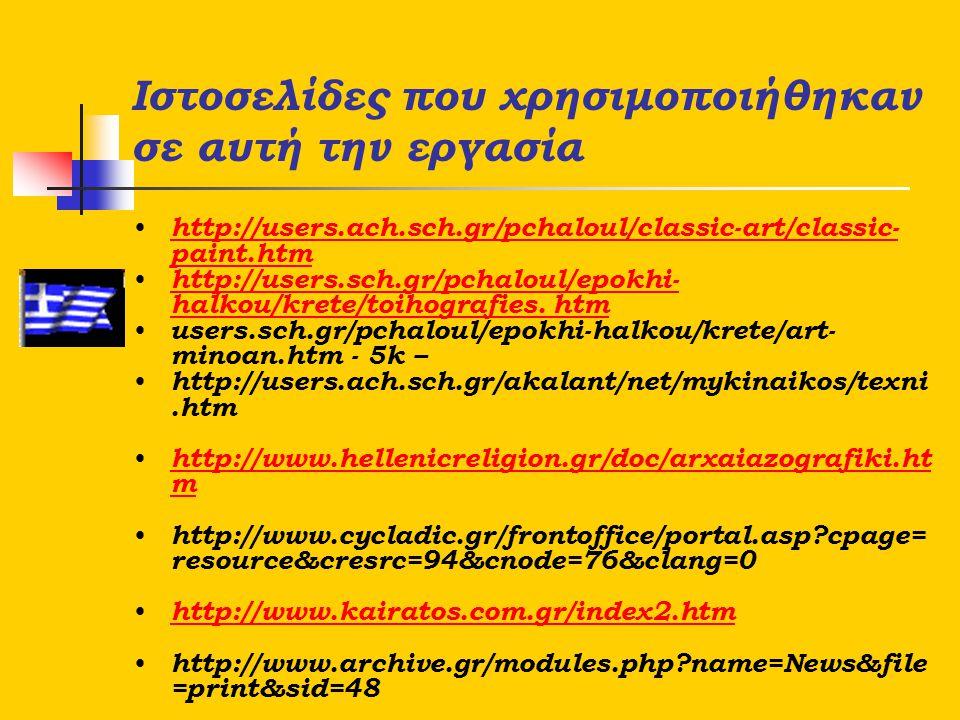 Ιστοσελίδες που χρησιμοποιήθηκαν σε αυτή την εργασία