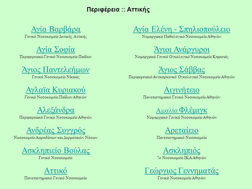 Αγία Βαρβάρα Γενικό Νοσοκομείο Δυτικής Αττικής