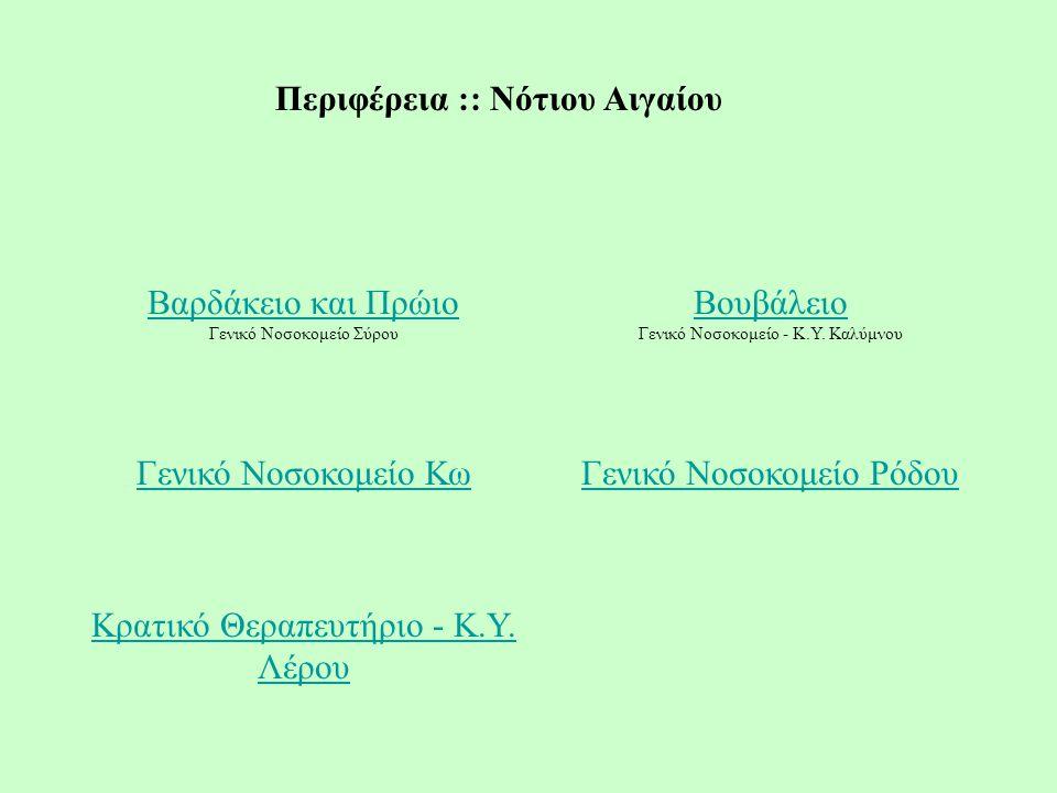 Περιφέρεια :: Νότιου Αιγαίου