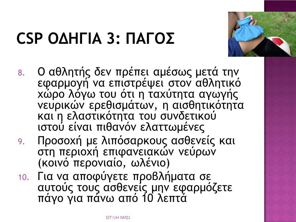 CSP ΟΔΗΓΙΑ 3: ΠΑΓΟΣ