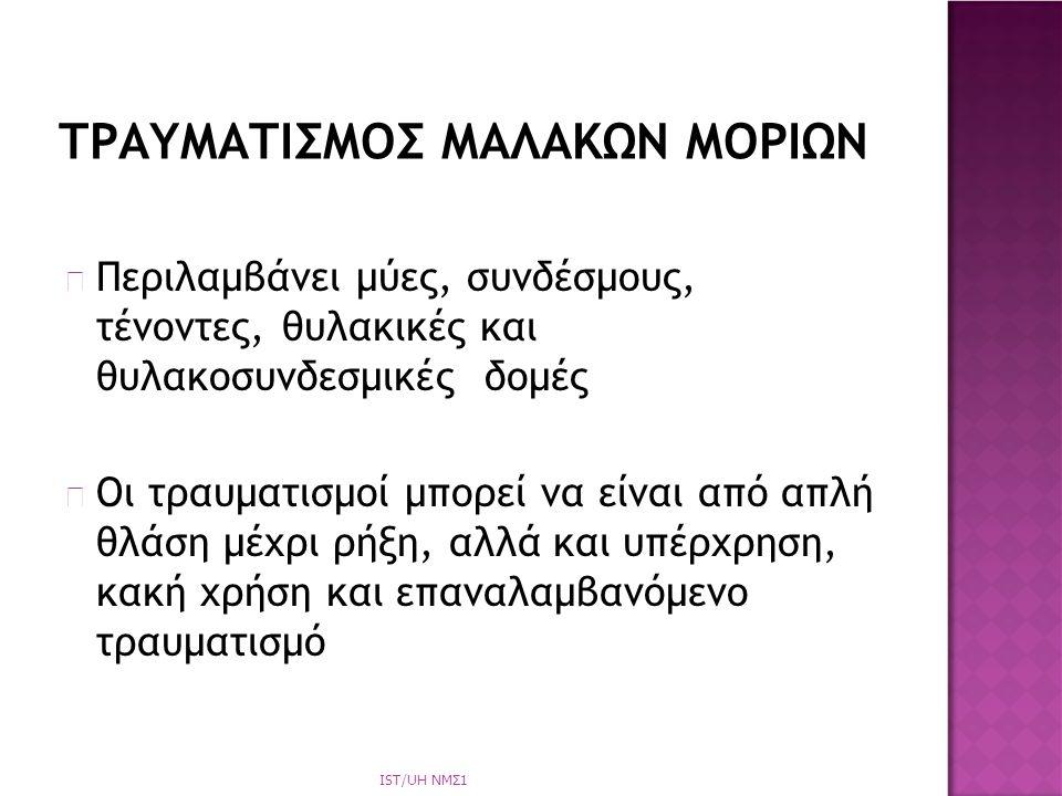 ΤΡΑΥΜΑΤΙΣΜΟΣ ΜΑΛΑΚΩΝ ΜΟΡΙΩΝ