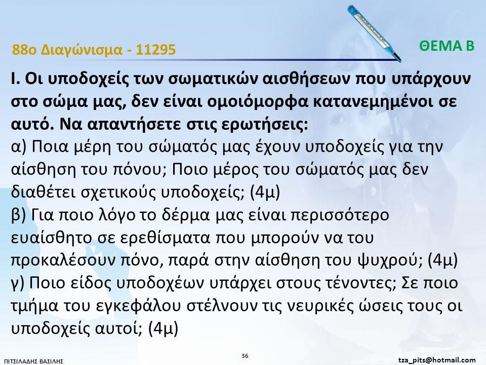 ΘΕΜΑ Β 88o Διαγώνισμα - 11295.