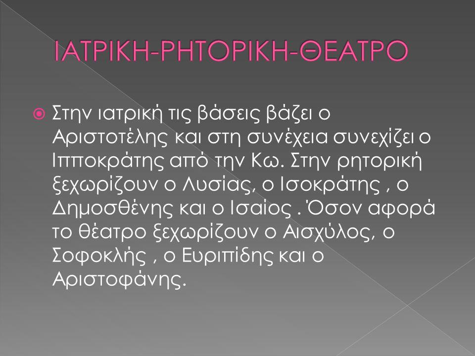 ΙΑΤΡΙΚΗ-ΡΗΤΟΡΙΚΗ-ΘΕΑΤΡΟ