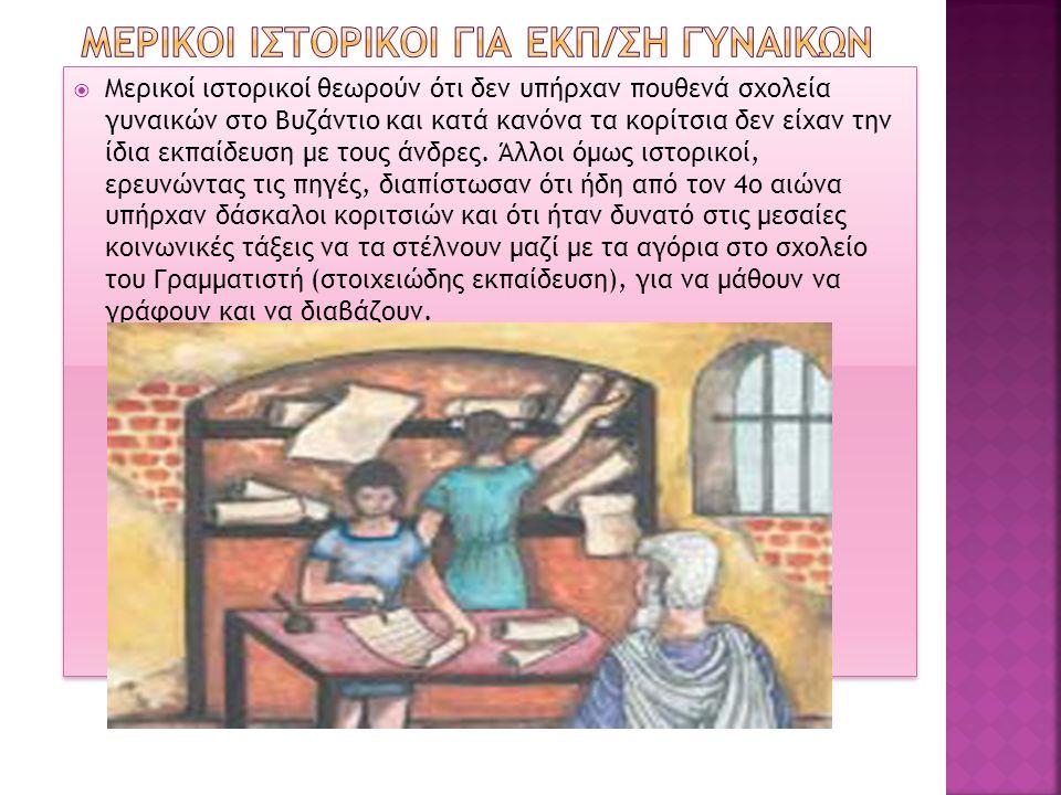 ΜερικοΙ ιστορικοΙ ΓΙΑ ΕΚΠ/ΣΗ ΓΥΝΑΙΚΩΝ