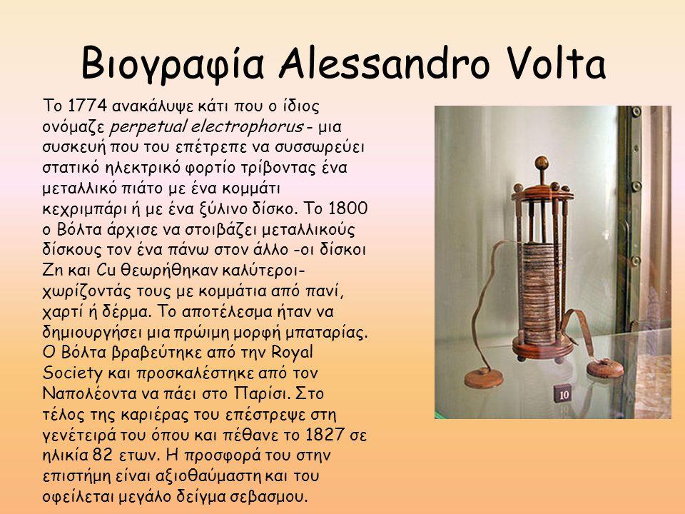 Βιογραφία Alessandro Volta