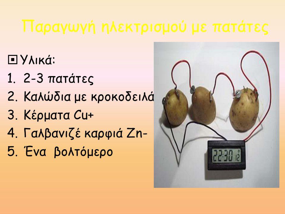 Παραγωγή ηλεκτρισμού με πατάτες