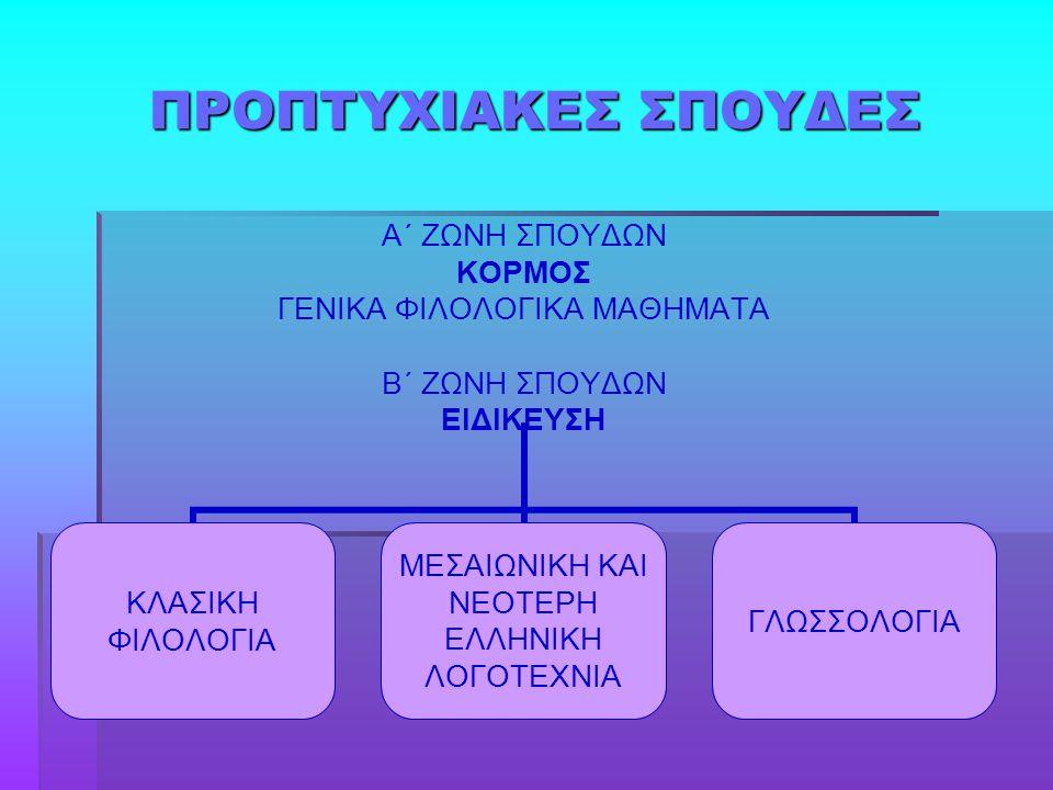 ΠΡΟΠΤΥΧΙΑΚΕΣ ΣΠΟΥΔΕΣ
