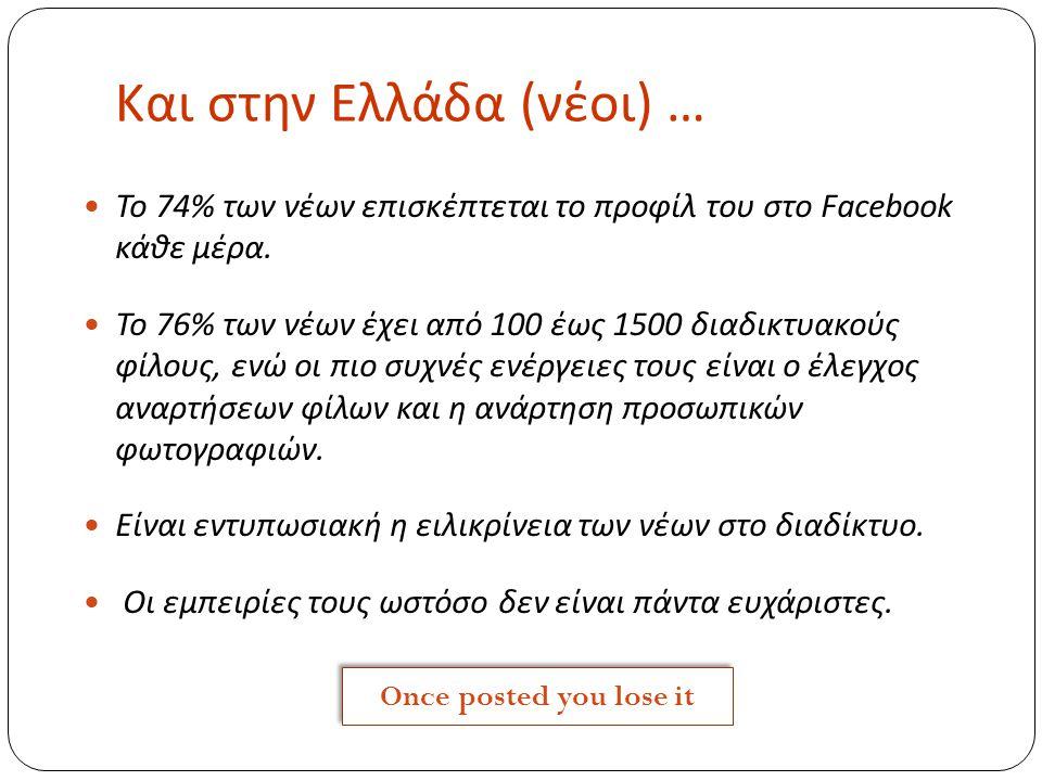 Και στην Ελλάδα (νέοι) …