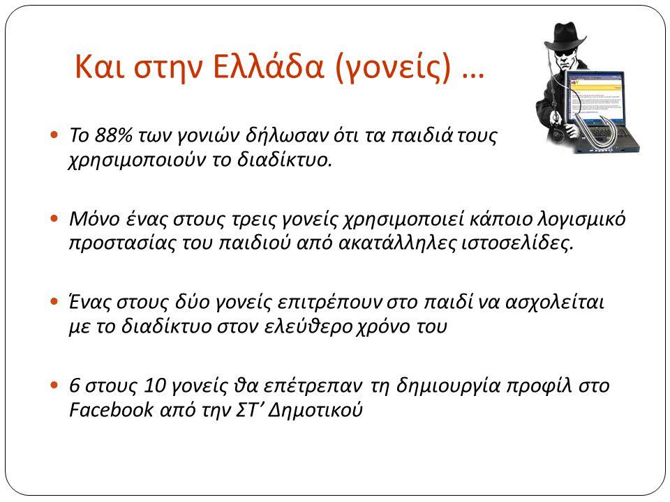Και στην Ελλάδα (γονείς) …