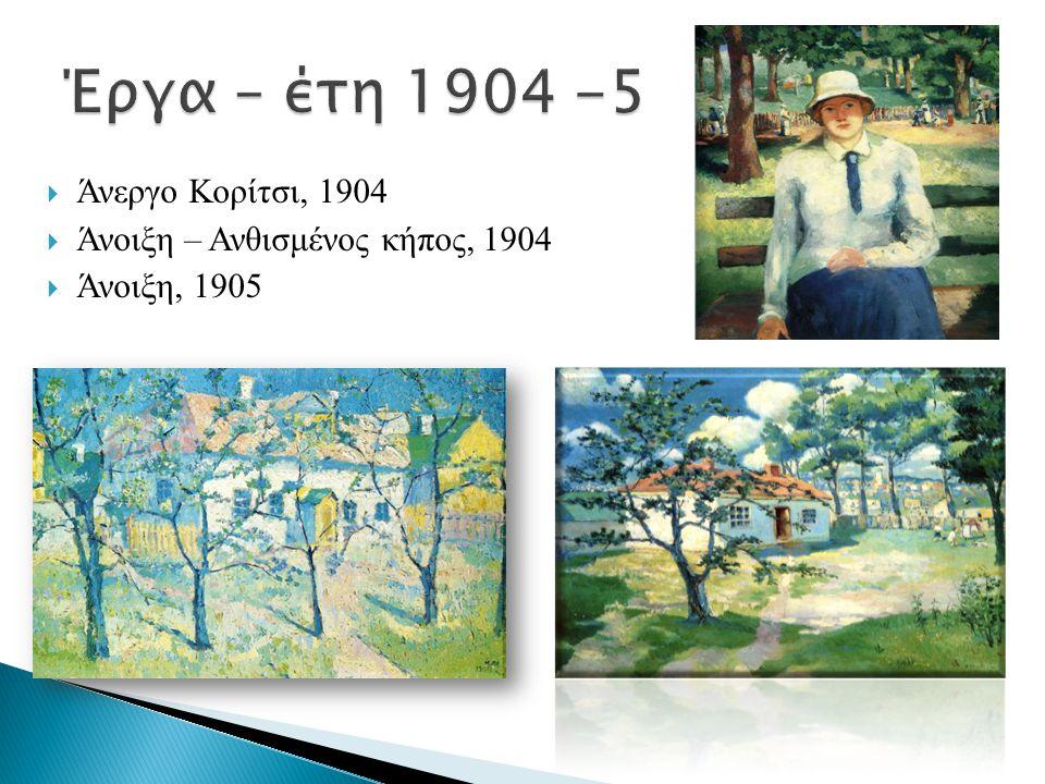 Έργα – έτη 1904 -5 Άνεργο Κορίτσι, 1904