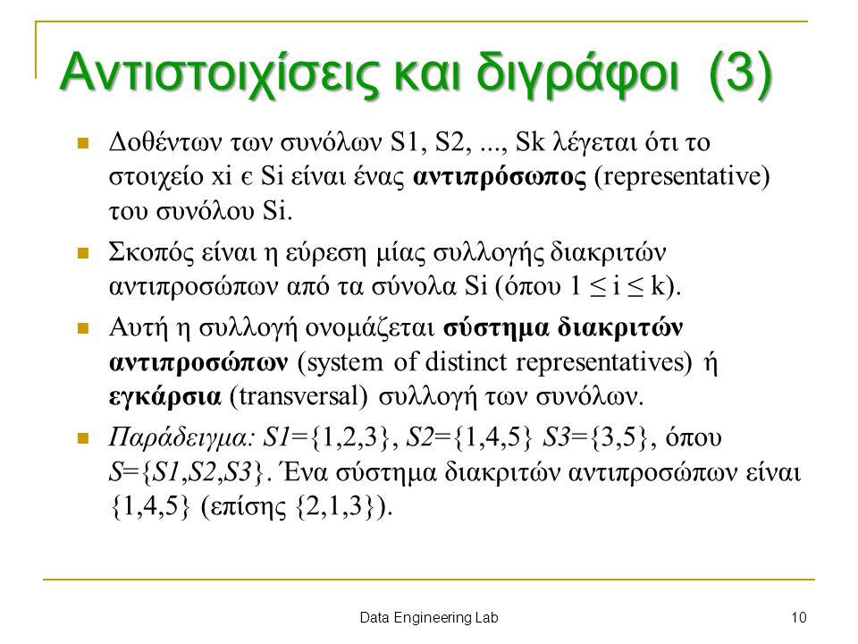 Αντιστοιχίσεις και διγράφοι (3)