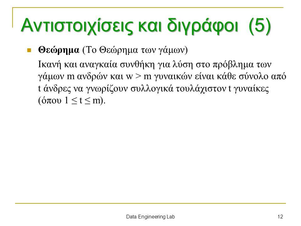 Αντιστοιχίσεις και διγράφοι (5)
