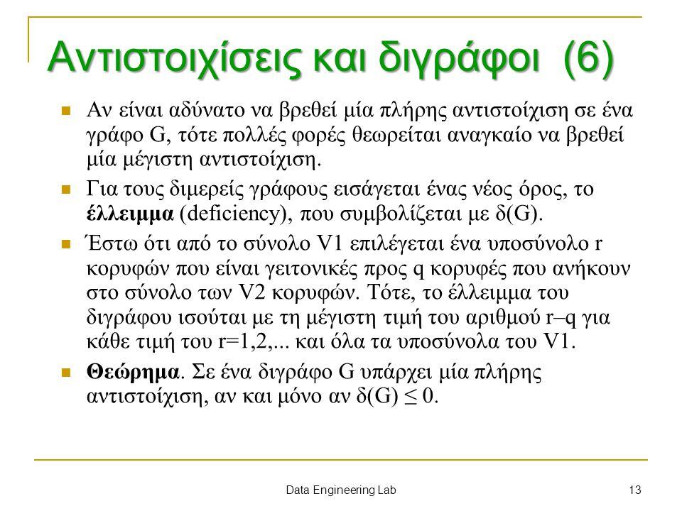 Αντιστοιχίσεις και διγράφοι (6)