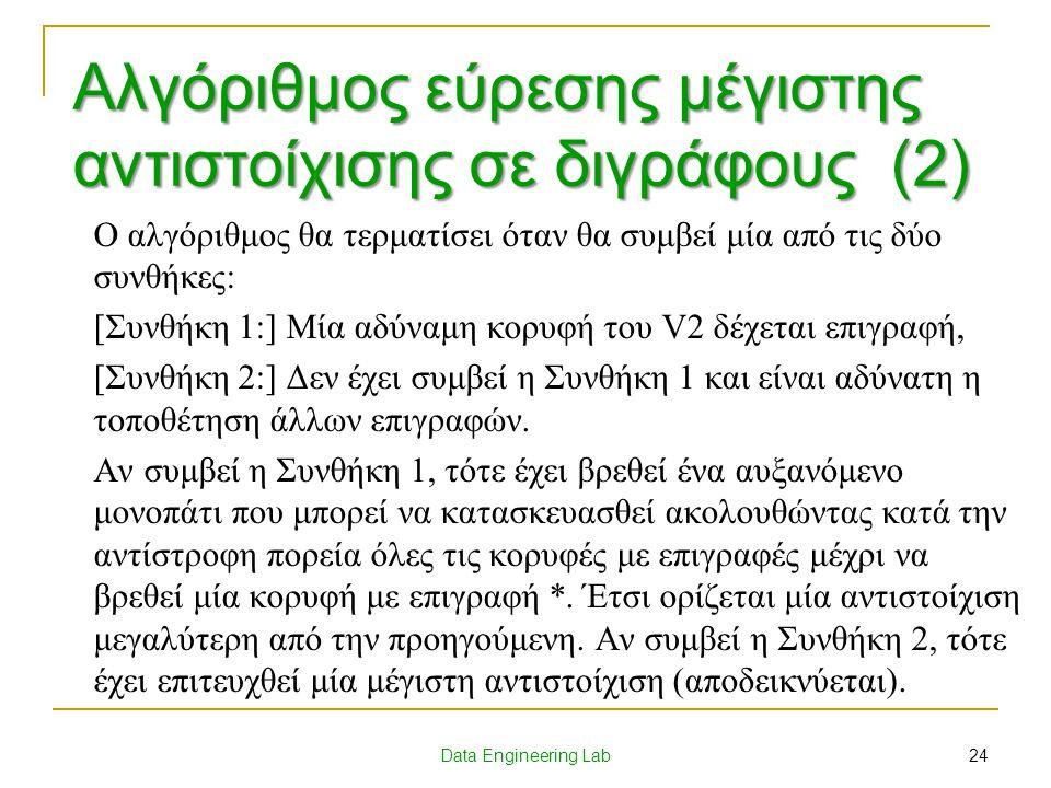 Αλγόριθμος εύρεσης μέγιστης αντιστοίχισης σε διγράφους (2)