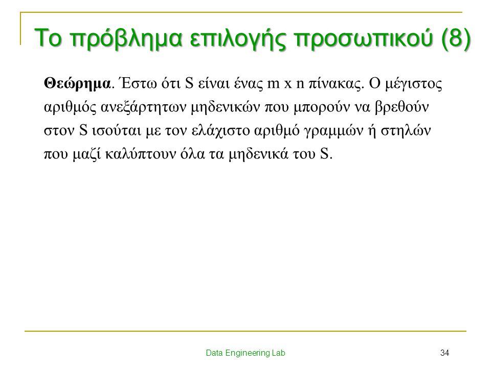 Το πρόβλημα επιλογής προσωπικού (8)