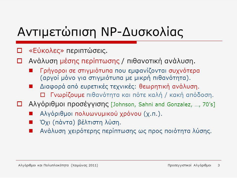 Αντιμετώπιση NP-Δυσκολίας